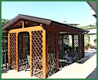Gazebi e grigliati d m strutture in legno foggia for Arreda durante
